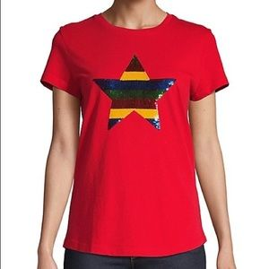 HBC x Color Me Courtney Sequin Star T-Shirt Medium